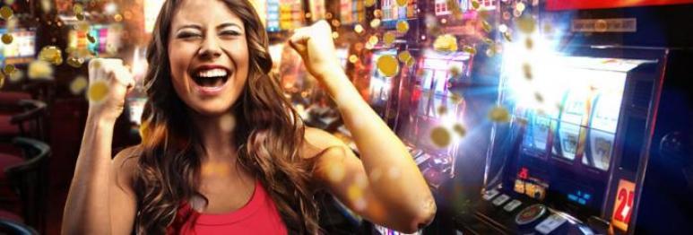 femme jackpot machine à sous